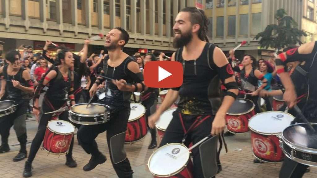150 drummers drumming