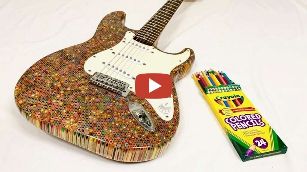 Colored Pencil Guitar
